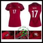 Crie Sua Camisetas Nani Portugal Feminina 2016/2017 I Online Store