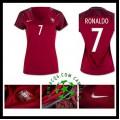 Tudo Uniforme De Futebol Ronaldo Portugal Feminina 2016/2017 I Loja On-Line