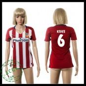 Atlético Madrid Camisas Futebol Koke 2015/2016 I Feminina