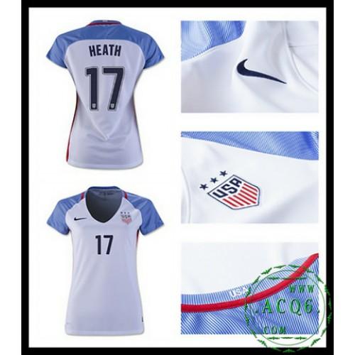 46cd73b0403920 De Comprar Camisas De Futebol Heath Usa Feminina 2016-2017 I Loja On ...