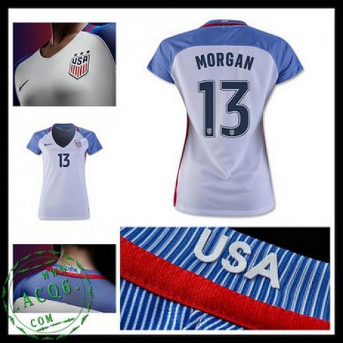 Camisa Futebol Eua Morgan 2016-2017 I Feminina - camisolas de ... a0428bf2b81f0