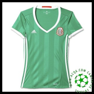Novo Camisa Futebol México Feminina 2016 2017 I Loja On-Line